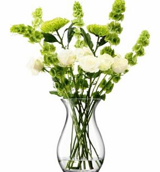 Elegant Large Flower VasePerfectly formed with elegant curves and a narrow waist, this handmade vase by skilled glass artisans, is perfect for displaying a tall arrangement, for a sense of effortless elegance.Whether a simple gather of fresh flowers,