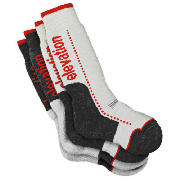 Unbranded Elevation Snow Grey 4pk Technical Socks Size
