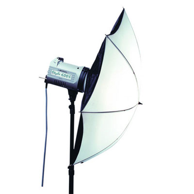 The Varistar umbrella and reflector is a multi-purpose light source...wide angle, even and soft. The