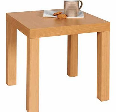 This beech effect end table is a sturdy. stylish design. Use in a range of rooms to suit your needs. Ideal for holding a phone. photographs or your cup of tea. Collect in store today. Size H45. W45. D45cm. Weight 3kg. General information: Packed flat