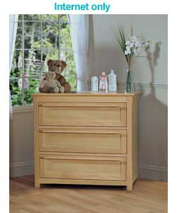 Unbranded Energy 3 Drawer Junior Chest - French Oak Effect