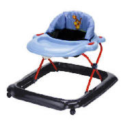 The Entry level baby walker features a padded backrest and tray for playing and eating. The walker i