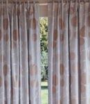 These luxurious 100 silk curtains feature our popular Erin design. Fully lined with a hidden tab hea