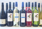 Twelve bottles of superb red and white wines await your consumption. Enjoy with food or simply to to