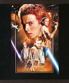 signed ewan mcgregor star wars episode 2 print