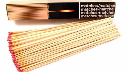 Extra Long Safety Matches - 11` (28 cms)This box of giant 11 inch (28 cms) long matches are perfect for keeping around the house, great for lighting open fires, log burners, stoves, bonfires, candles or anything that needs a naked flame. The box cont