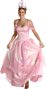 Includes pink princess dress with rose detailing and crown.