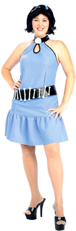 Adult Betty Rubble Costume includes dress, belt and wig.