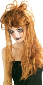 Long red Halloween style wig.