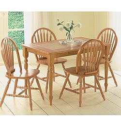 Solid rubberwood, Natural, terracotta or white. Table: h 75 w 122 d 78 cms. Chairs h 91 w 48 d 43