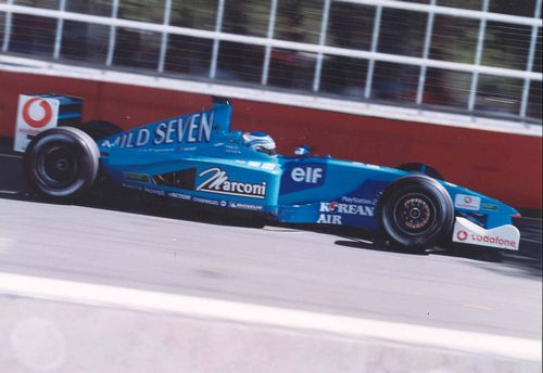 Giancarlo Fisichella in his Benetton B201 from the