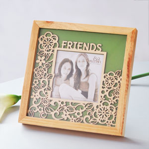 Unbranded Flourish Friends Natural Wood Photo Frame