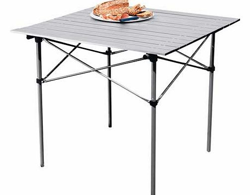 Easy to transport. lightweight and folds away into its own carry bag. this camping table would be ideal for outdoor events such as BBQs. kids parties. camping and picnics. Aluminium frame. Folds for storage. Carry bag. Table size H70. L70. D70cm. EAN