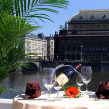 Enjoy delicious Czech cuisine whilst admiring the views of the river Vltara at the chic Strelecky Os