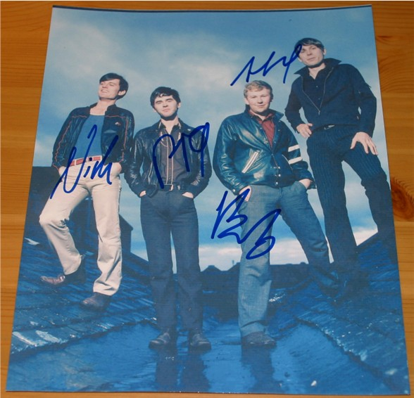 Quality photograph signed in blue pen by Alex  Nick  Paul and Bob from the successfull British band