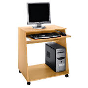 This computer desk from the Freshman range comes in a beech effect. Features include a pull out keyb