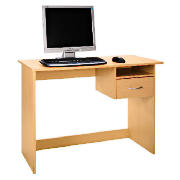 This computer desk comes in a beech effect with a drawer. The desk is suitable for 17-19 CRT or TF m