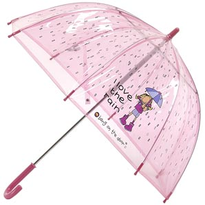 Kids will love using this wraparound umbrella to s