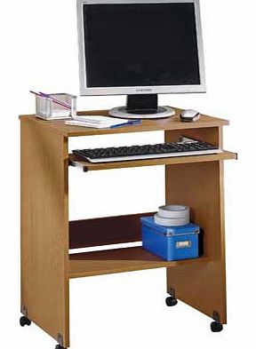This Argos Value Range trolley. in an oak-effect finish. provides a compact work station ideal for your home office or bedroom. Featuring a sliding keyboard shelf and castors for easy manoeuvrability. this versatile PC trolley fits neatly wherever yo