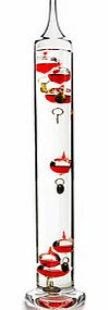 This Galileo Thermometer 43cm 7 Red Temperature Globes is an ideal ornamental piece within any home and it also has a use as it cleverly reads the temperature by the movement of the globes.  The beautiful all red coloured globes will also make the id