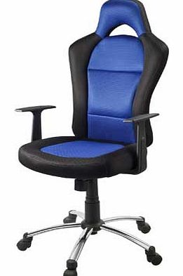 Get stuck in to your game consoles with this fun gaming chair. Its blue and black cloth finish makes it comfortable and durable. Featuring a convenient adjustable tilt and height mechanism you will have a chair thats truly customised to fit your comp