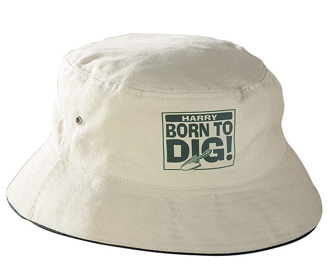 Unbranded Gardeners Bucket Hat - Stone - Med/Lge - Hardy Perennial