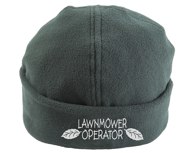 Unbranded Gardeners Fleece Beanie Hat - One Size - Lawnmower Operator