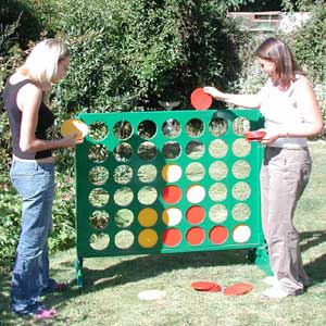 Gaint Connect 4 Garden Game, also known as the Big