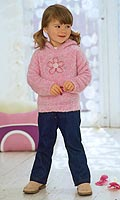 Set contains hooded jumper with flower embroidery, T-shirt with little flowers embroidery and