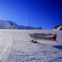 Fly over the Aoraki Mount Cook National Park and walk on a glacier on this a unforgettable ski plane