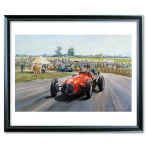Grande Epreuve` depicts Baron Toulo De Graffenried a gentleman racer with a career in racing before