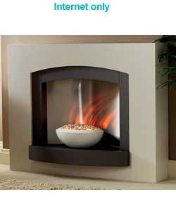 Unbranded Graphite Bowl Electric Fire Suite