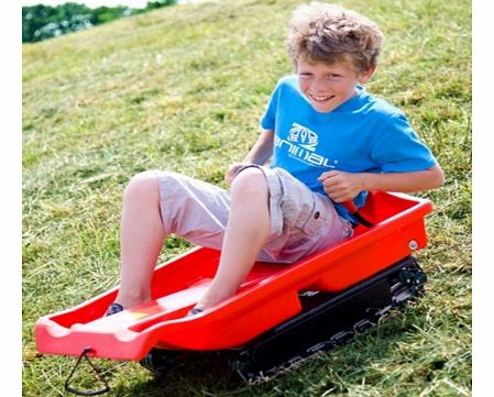 Grass Sledge or Toboggan which runs on tracks! OK - tell me any boy (or adventurous girl) who does not want a Grass Sledge on their Christmas list? I do! The Grass Sledge runs on any grassy slope just as if you were bombing down the snow field at St