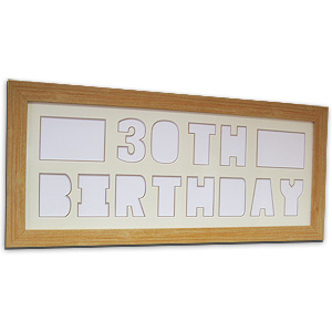 Unbranded Happy 30th Birthday Create a Pix Mount Photo Frame