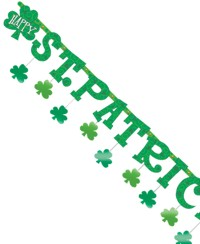 Eyecatching and fun Irish Patron Saints Day banner. This is a fun St Patrick`s Day banner.  It has