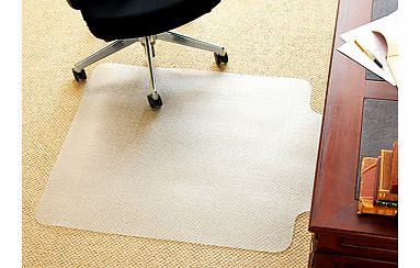 If you use a wheeled office chair, you'll know the damage it can do to your carpet. This carpet protector is shaped to fit neatly under the recess of your desk. It dissipates static electricity and provides a smooth rolling surface for your chair.Mad