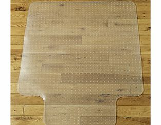 If you use a wheeled office chair, you'll know the damage it can do to hard flooring. Because all your weight is focused at the castors, wooden and laminate flooring can get horribly scratched and pitted. This carpet protector is shaped to fit neatly