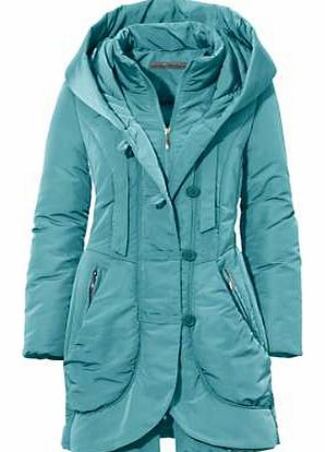 Keep cosy and warm with this lovely parka with its zip and button fastening. Featuring a hood, 2 zip pockets, internal stand-up collar and elasticated drawstring at the hem. Heine Parka Features: Washable Navy/Petrol/Taupe: 90% Polyester, 10% Polyami