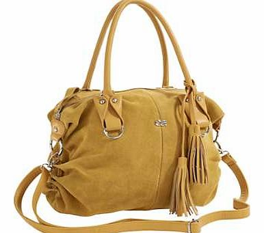 Stylish, leather handbag with removable tassel and ruched detailing at the side. Featuring an adjustable, removable shoulder strap, zip fastening and various internal pockets. Heine Handbag Features: Adjustable strap Zip fastening Internal pockets Le