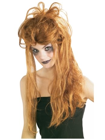 This messy red headed wig is just the thing for Helle. IF YOU WOUD LIKE TO SEE HOW TO PUT ON A WIG,