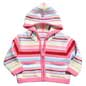 * A colourful knited Zip Through Jumper * Hooded t