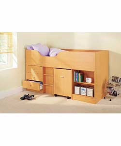 Beech effect. Complete with 3 drawers, 2 shelves,