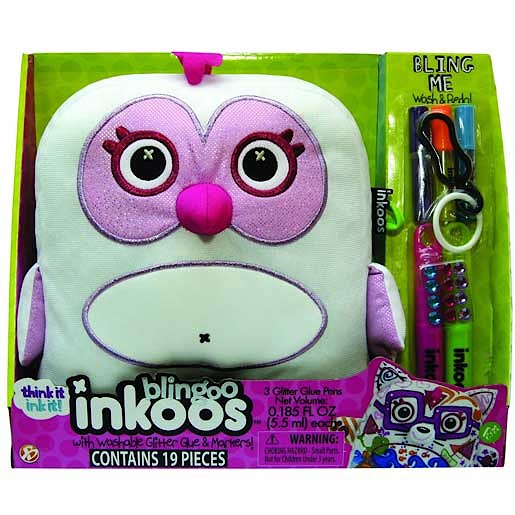 Add some bling to your style with this Inkoos Blingoo Deluxe Owl Soft Toy with Glitter Glue Pens. Put your own stamp on this 25cm-tall soft and squidgy birdy by scribbling works of art all over their body.  Not only are they soft, but they are super