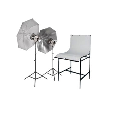 A complete kit ideal for product and still life photography. The Interfit Table Top Studio Tungsten
