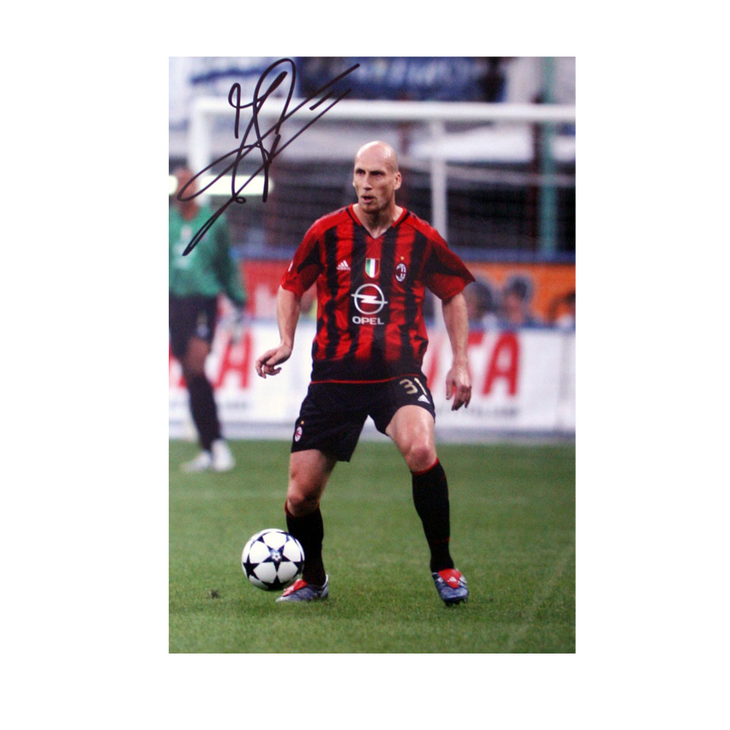 The photograph is 10` x 8` in size and features Stam in action for AC Milan following his move from