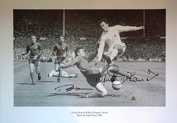 This great print from Spurs 3-1 victory over Chelsea in the 1967 FA Cup Final at Wembley shows the g