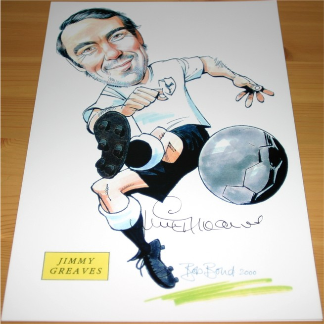 Signed in black pen by the former Spurs and England player. COA - 0420000495