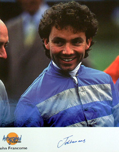 John Francome MBE is one of Horse Racings greats with seven Champion Jockey titles and 1138 winners.