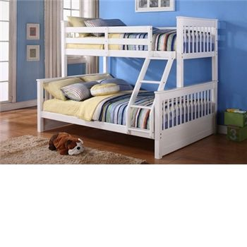 Unbranded Juliet Wooden Triple Sleeper Bunk Bed in White