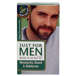 Brush in colour gel for Moustaches, beards, temple